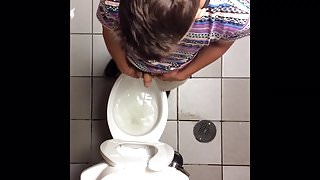 Circumcised boy with a big penis peeing