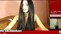 black haired camgirl cock reaction 2