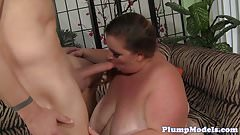 Cocksucking ssbbw pounded on the couch