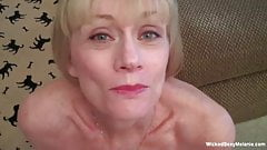 Messy Facial For Amateur Sexy GILF