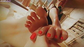 Triss Merigold - Triss Handjob and Footsniffing