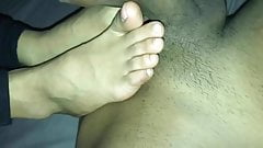 Indian feet on my Tamil dick