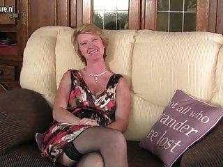 British mature moms - Naughty british mature mom playing with her wet pussy