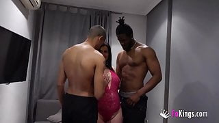 MILF Montse tops herself and films her FIRST DP!!!