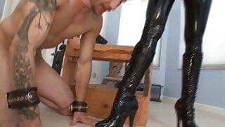 Redhead Femdom Mistress Pegs her naughty Jewish Slave!