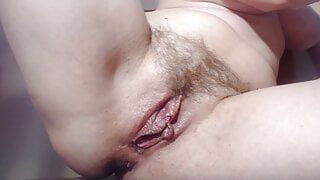 Milf showing her big juicy pussy lips
