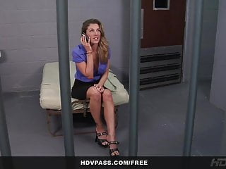 Jail cock sucking Kayla paige sucks and fucks a cop to get out of jail