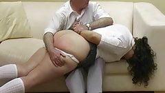 Father spanks