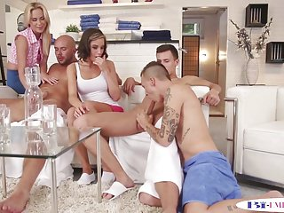 Hot ass pounding pussy Bisexual orgy hunks pounding pussy and ass
