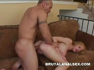 Angelique aka frenchy nude Frenchie has her tight ass spanked and fucked hard