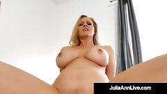 Busty Cougar Julia Ann Mounts & Blows Her Step Son's Dick!