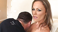 Sexy Blonde MILF Big Tits Gets Pussy Hammered