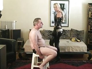 Femdom slapped Slapped by blonde latex beauty