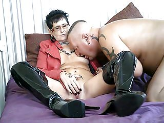 Houston vintage leather jackets My hot pvc milf in red leather jacket