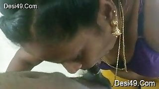 Second wife Sudha Rani licking and sucking my dick