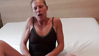 Hot milf playing with dildo