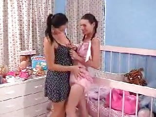 Abdl sex porn Abdl diapered lesbian breastfeeding while being fingered