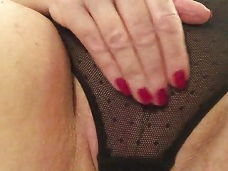 Sexy pantie porn videos - Sexy granny black panties stroking slapping fat pussy to cum