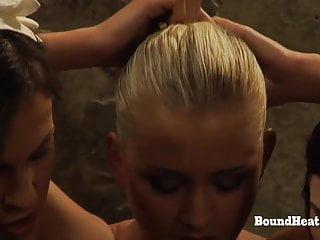 Free pussy rubbing masturbation clips Doa 2: pussy rubbing masturbation for tied up lesbian slave