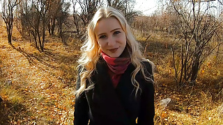 Teen babe loves to suck and fuck in nature! - Outdoor POV