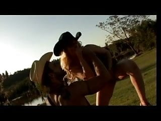 Xxx gay cowboy Cowboy fingers blondes pussy and licks her ass, then she sucks his cock