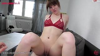 MyDirtyHobby - Teen fuck and cum swallow POV