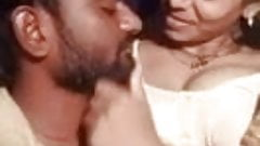 Tamil hot cheating aunty with an young boy in home