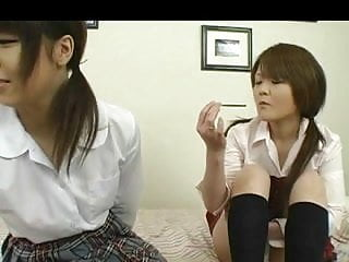 Mature japanese women free Japanese women caress each other