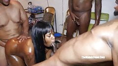 18yr teen blasian star about to get gangbanged bbc in da hoo