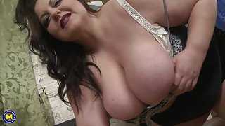 BIG busty step mom needs your hard cock now