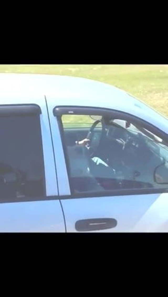 Masturbating While Driving Car