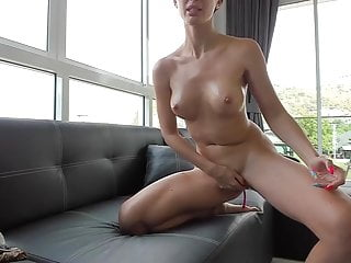 Free hairy pussy big boobs Brunette with big boobs and hairy pussy masturbates