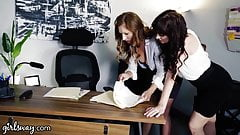 Hot Receptionist Needs To Convince Femdom Boss Of Her Skills