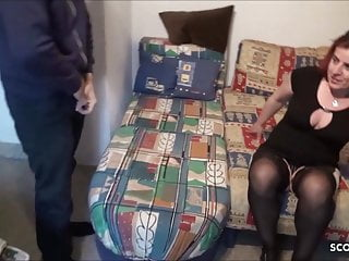 Mature milfs fuck for cash Ugly german mature street hooker fuck for cash by young guy