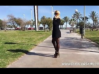 Barcelona escort cris Flashing no panties in public in barcelona
