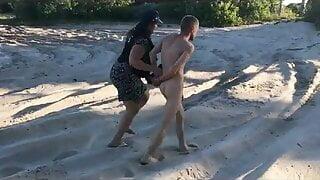 Policewoman Makes Man Strip Naked at a Public Beach – ENM CFNM