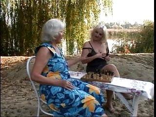 Nude lezbos beaches Chess-playing lezbo grannies