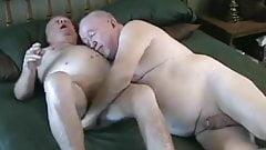 two elderly friends