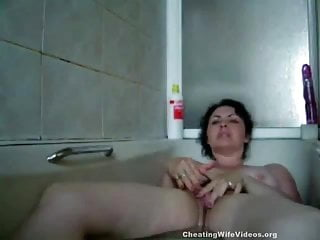 Cheating mature literotica - Cheating mature wife playing with her pussy after lover left