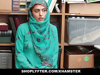 Sexual harassment workbooks Shoplyfter- hot muslim teen caught harassed