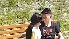 teeny girl 18 oralsex handjob public park