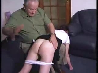 Teen girls spanked otk - Sexy girl gets an otk spanking