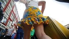 culona falda amarillo