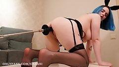 Big Black Cock for Cutie Bunny - Creampie with Fake Cum