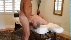 After massage sucking