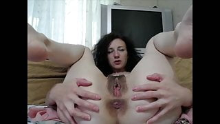 Russian Wife Shows Her Vagina And Big Asshole
