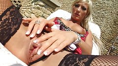 GiveMePink hottie Sabina B masturbating until orgasm at home