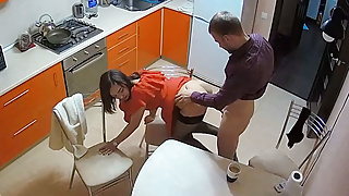 The Hottest Amateur Couple Has Quick Hard Action In The Kitchen
