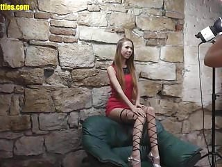 Dirty just lingerie nude wearing - Skinny blonde wears just stockings