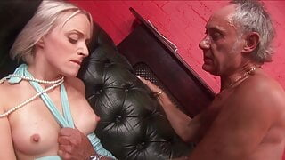 Two dudes bang a blonde and an ebony sluts in a cafe